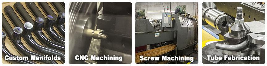 custom tube fabrication, CNC machining and screw machining