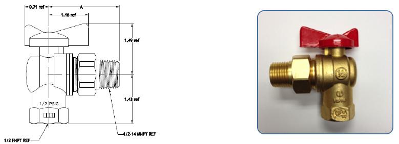 gas appliance control valves