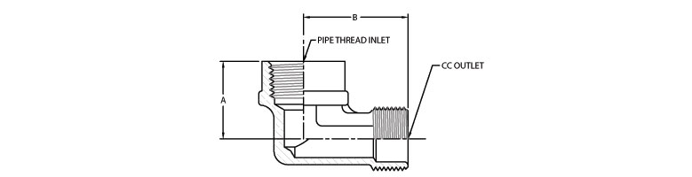elbow connectors - Compression Connector (Female Pipe to Compression Outlet)
