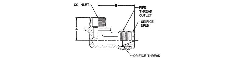 elbow inline gas restrictor