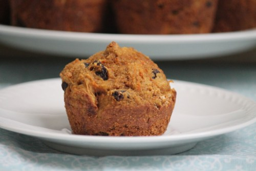carrot and raisin muffins