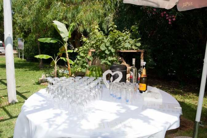 Wedding bubbly is waiting to pop