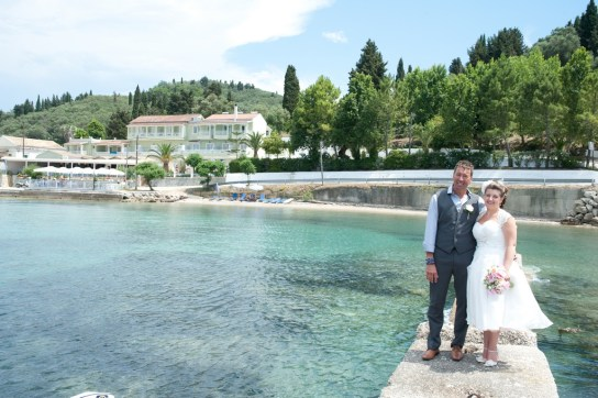 Boukari, their Corfu wedding destination