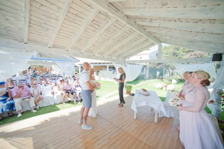 Wedding ceremony at San Carlos, Corfu