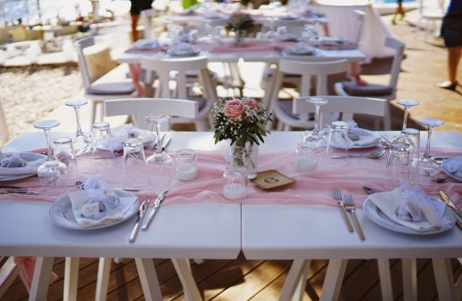 Wedding blush pink and white