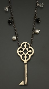 """""""Notre Dame"""" Key from Germany with gemstones and pearls - $53 (SW803)"""