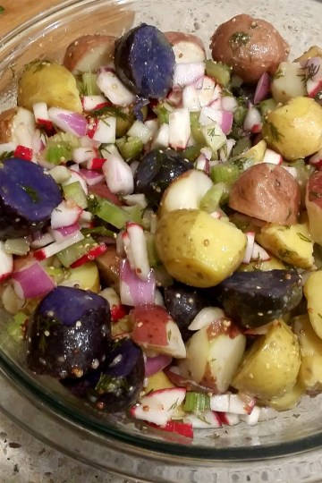 mustard dill potato salad