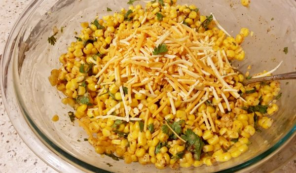 Vegan dairy free street corn salad
