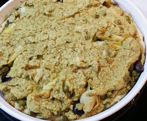 vegan artichoke olive tart