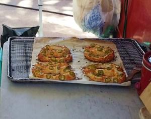 Jalapeno pretzels at New Smyrna Beach Farmers Market in Florida