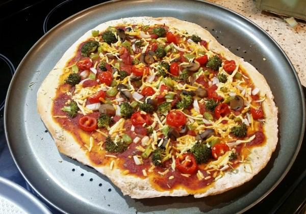 Vegan Broccoli Veggie Pizza
