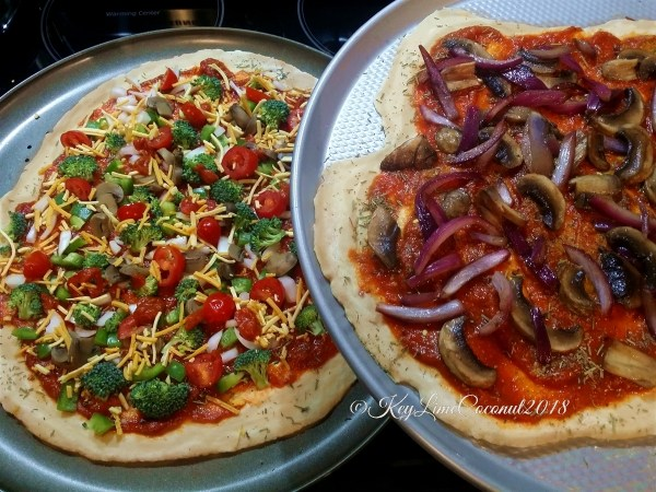 two yummy homemade vegan pizzas