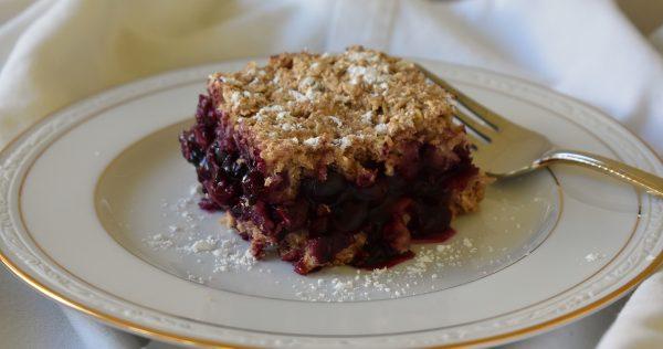 blueberry oat breakfast bars