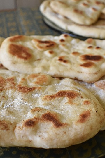 homemade vegan naan
