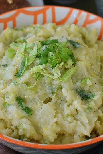 lisa's colcannon with brussels sprouts