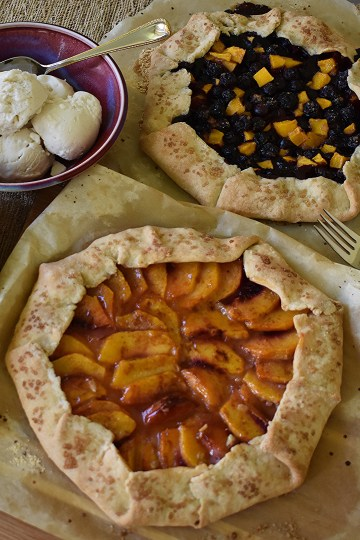 two fruit galettes
