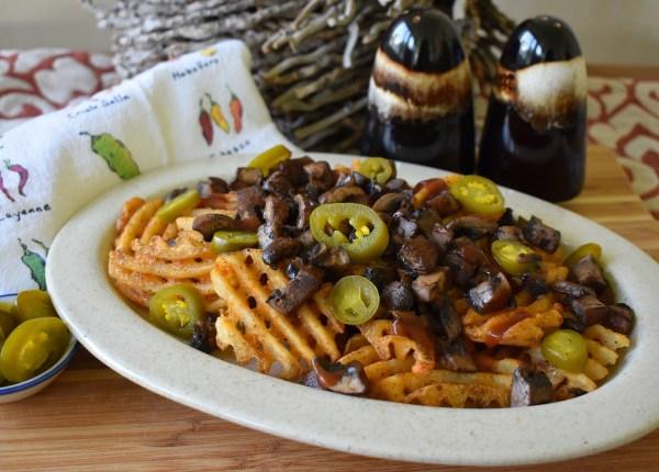 tex-mex portobello waffle fries