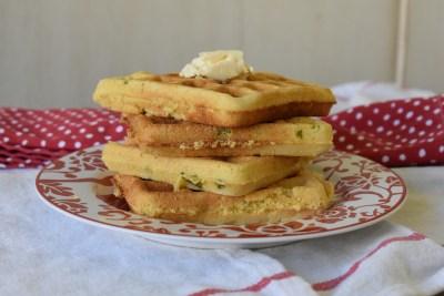 jalapeño cornbread waffles