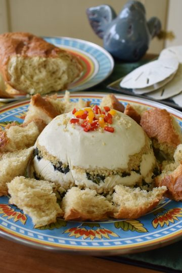 vegan cream cheese basil bomb spread