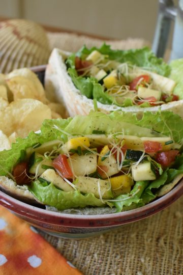 summer harvest veggie pitas