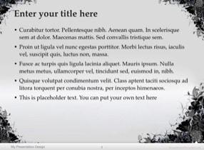 Floral Grunge Keynote Template - Slide 2