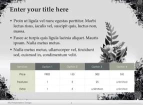 Floral Grunge Keynote Template - Slide 4