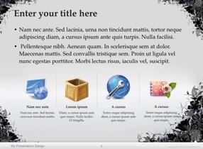 Floral Grunge Keynote Template - Slide 5