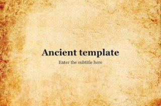 Ancient Keynote Template - FREE