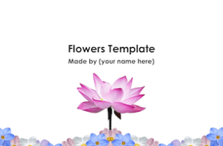 Flowers Keynote Template - FREE