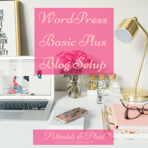 Word Press Basic Blog Plus Setup