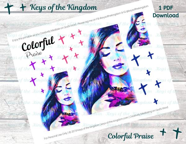 Colorful Praise Bible Journaling Printable