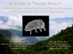 Phylum Tardigrada in the Great Smoky Mountains National Park home screen