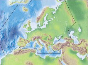 Key to European genera of bees map