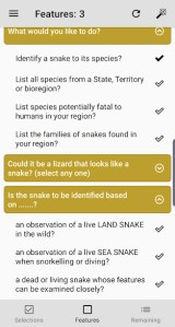 Australian Snake ID Feature selection example