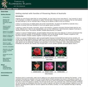 Families of Flowering Plants of Australia overview