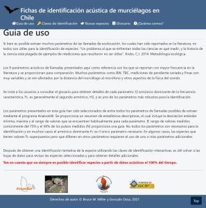 Guide to identification of the bats of Chile home page