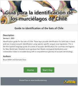 Guide to identification of the bats of Chile listing page