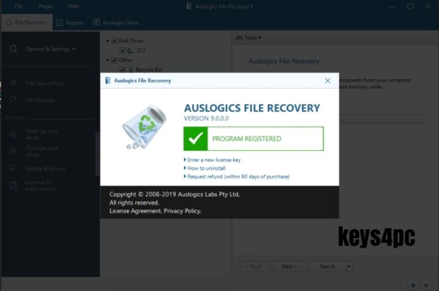 Auslogics File Recovery PRO 10.0.0.2 Crack | License Key | Keygen | 2021