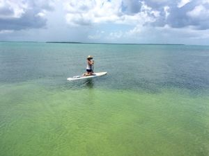 Allison testing out our new paddleboard