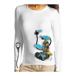 Pony Tank with Blue and Yellow Fish Long Sleeve