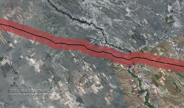 Keystone Mapping Project: Oil Spill Voluntary Evacuation Zone.  Milepost 19.  Montana.