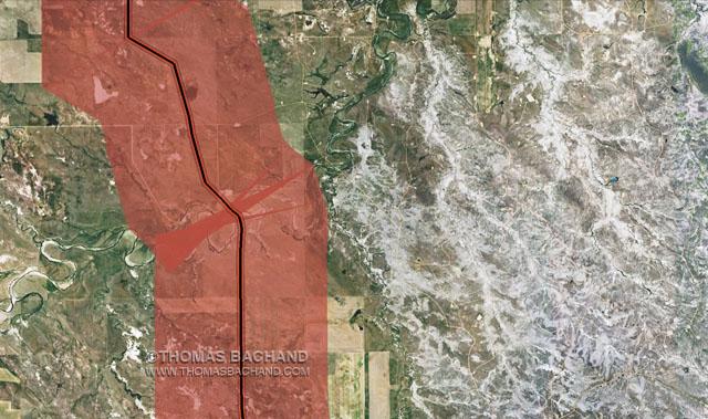 Keystone Mapping Project: Oil Spill Voluntary Evacuation Zone.  Milepost 265.  Montana.