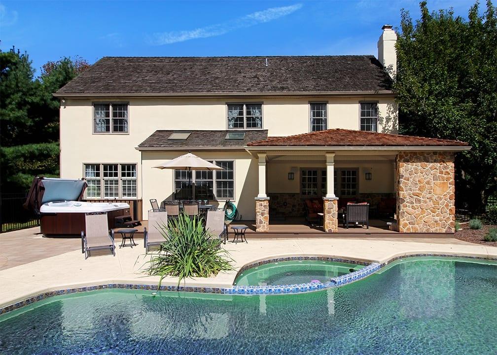 Pool Deck Ideas | Decking Ideas & Designs for Inground Pools on Pool Deck Patio Ideas  id=38372