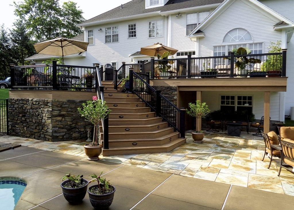 Pool Deck Ideas | Decking Ideas & Designs for Inground Pools on Pool Deck Patio Ideas  id=41822