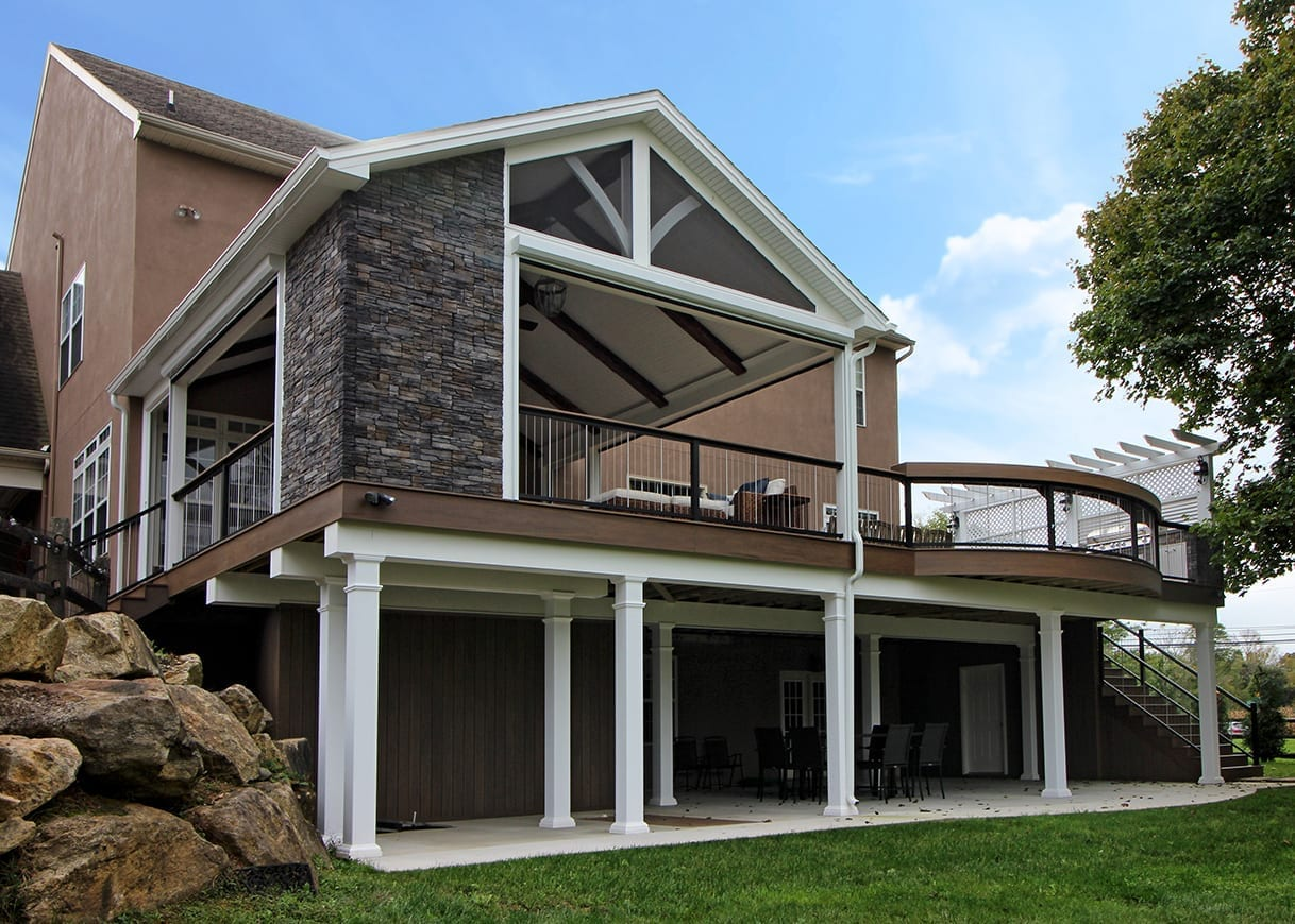 Covered Back Porch Ideas & Designs | Chester & Lancaster ... on Covered Back Deck Designs id=90057
