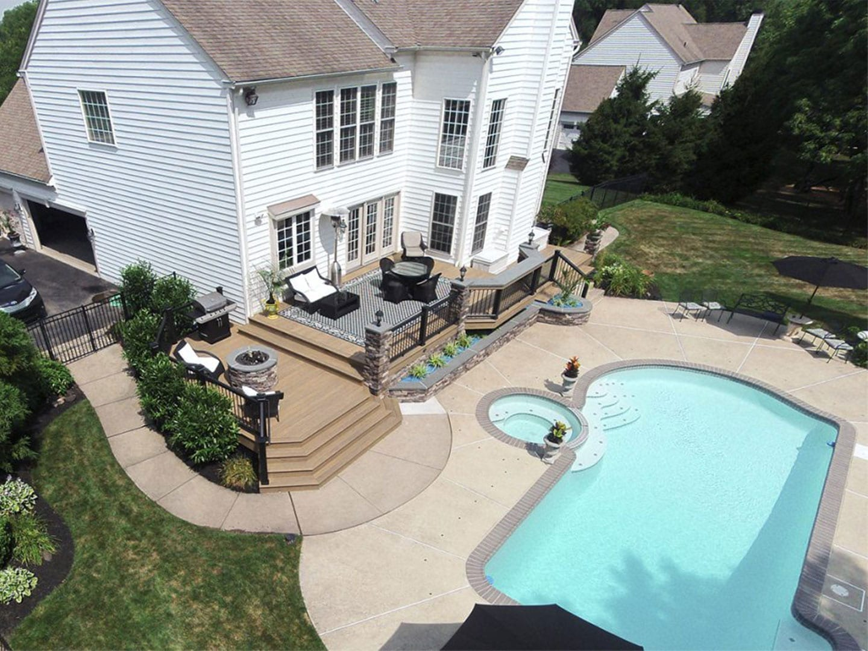 Pool Deck Ideas | Decking Ideas & Designs for Inground Pools on Pool Deck Patio Ideas  id=17981