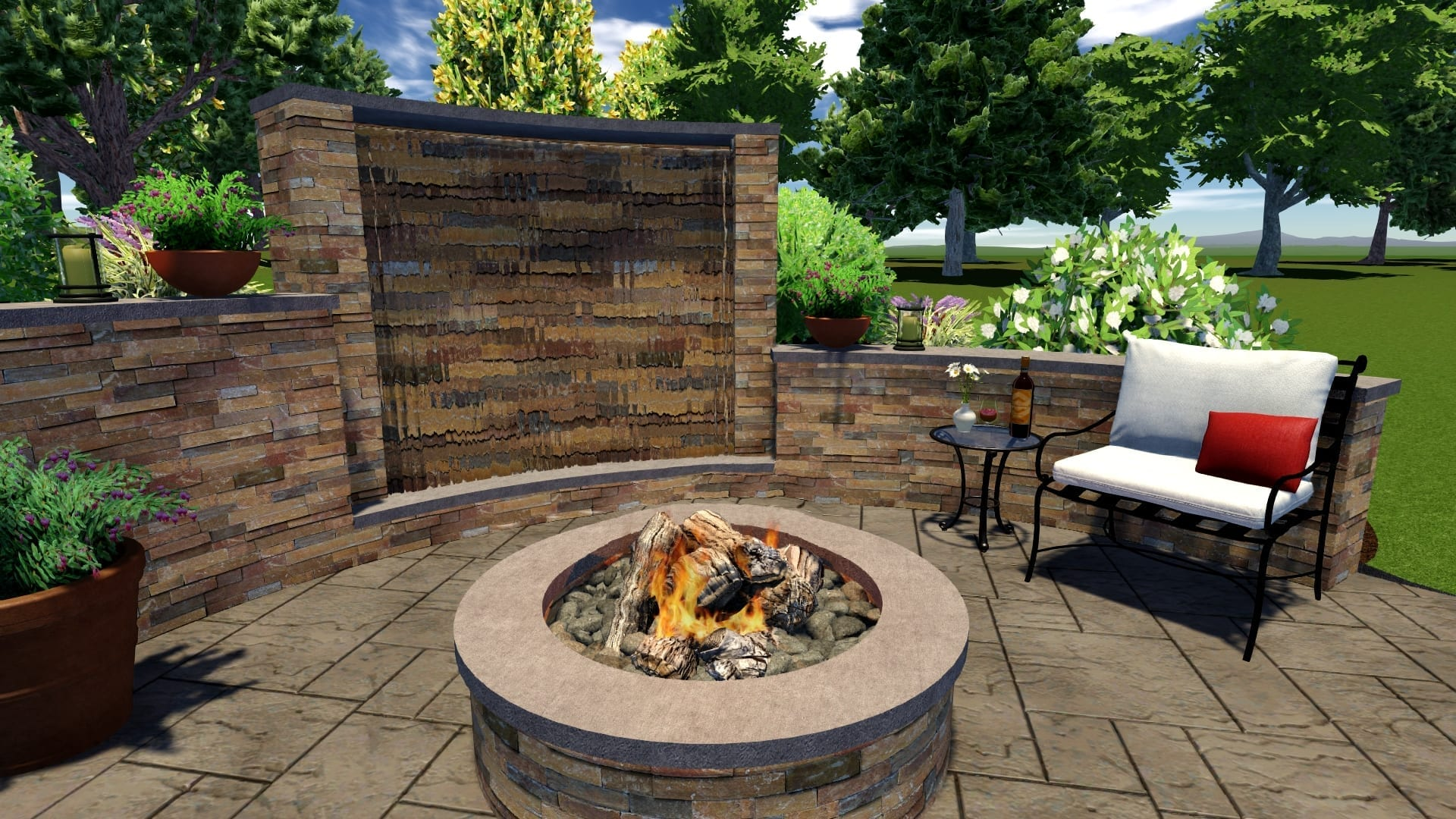 Outdoor Water Features: Fish Ponds, Patio & Deck ... on Water Feature Ideas For Patio id=72862