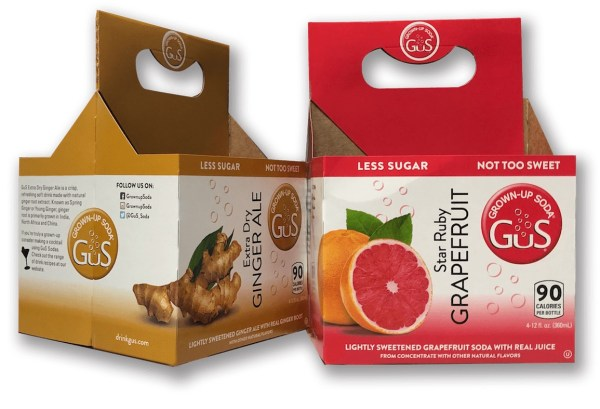 Star Ruby Grapefruit and Extra Dry Ginger Ale beverage packaging