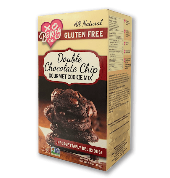 Double chocolate chip cookie packaging