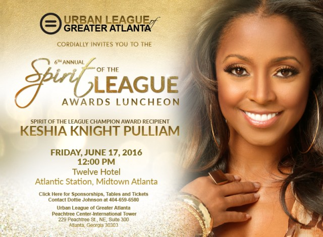Spirit Of The League Award ~ Keisha Knight Pulliam
